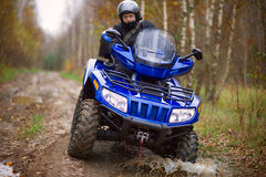 Man on ATV. Royalty Free Stock Photos