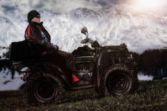 Man on ATV Royalty Free Stock Images