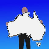 Man with Australia sign Stock Images