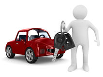 Man with automobile keys Royalty Free Stock Images