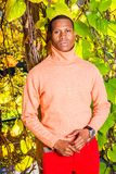 Man Autumn Casual Fashion in New York royalty free stock image