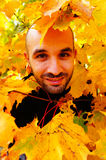 Man in the autumn Royalty Free Stock Photography