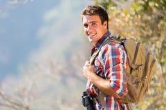 Man autumn mountain Stock Images
