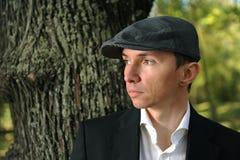 Man in autumn park Stock Photo