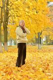 Man in autumn park Stock Photography
