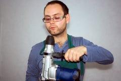 Man av arbetaren Fotografering för Bildbyråer