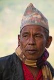 Man av Sindhupalchowk, Nepal royaltyfri bild