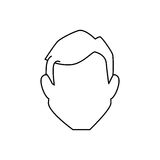 Man avatar character icon Royalty Free Stock Photos