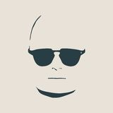 Man avatar front view. Male face silhouette Royalty Free Stock Photos