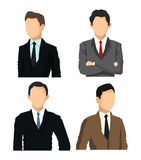 Man avatar icon. Businesspeople design. Vector graphic Royalty Free Stock Photos