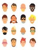 Man avatar icons Royalty Free Stock Image