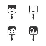 Man avatar portrait picture icon Royalty Free Stock Images