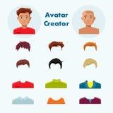 Man - avatar - skapare Arkivfoton