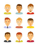 Man avatar vector icons set Royalty Free Stock Photos