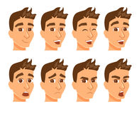 Man avatars with expression. Royalty Free Stock Photo