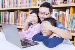 Man avoid his students watching adult content Stock Images