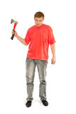 A man with an ax in his hand Royalty Free Stock Image