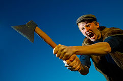 Man with axe stock images