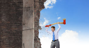 Man with axe Stock Image