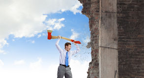 Man with axe Royalty Free Stock Images