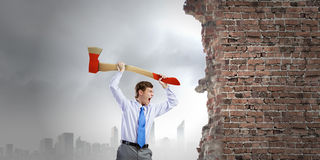 Man with axe Stock Photography