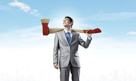 Man with axe Royalty Free Stock Photo