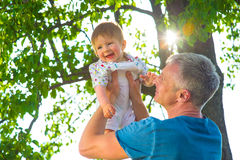 Man with  baby. Stock Photography