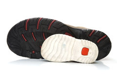 Man and baby sneaker shoes stock image