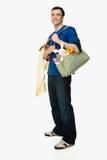 Man with baby supplies Stock Photos