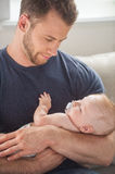 Man with baby. Stock Images