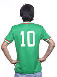 Man back with mexico jersey Royalty Free Stock Photo