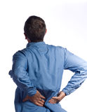 Man with back pain Royalty Free Stock Images
