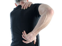 Man with back pain Stock Photos