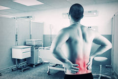 Man with back problem stock photography
