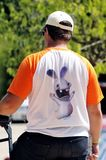 A man back with a T-shirt Stock Photography