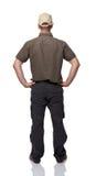 Man back view. On white background Stock Photos