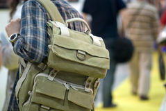 Man with a backpack Stock Photography