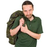 Man with backpack Royalty Free Stock Image