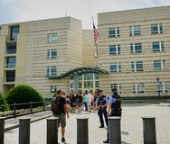 American Embassy Security Guards - Berlin royalty free stock photos