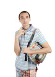 Man with backpack Stock Photo