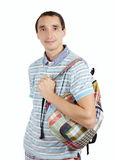 Man with backpack a Stock Images