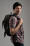 Man with backpack Stock Images