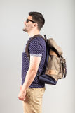 Man with backpack Royalty Free Stock Photo