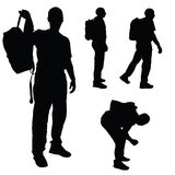 Man with backpack vector Royalty Free Stock Photos