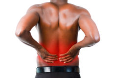 Man with backpain Stock Photography