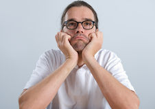 Man in a bad mood Royalty Free Stock Photo