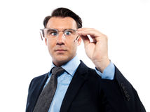 Man with bad vision difficultues Stock Photo