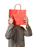 Man with bag. Stock Image