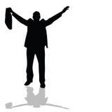 Man with bag silhouette vector Stock Photos