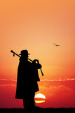 Man with bagpipe Royalty Free Stock Images